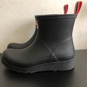 Hunter Original Play Black short Rain boot
